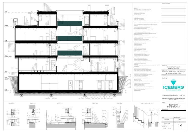 Plano de sección edificio iceberg tarifa