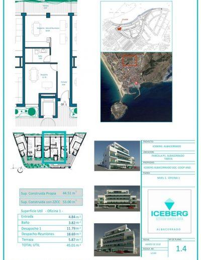 Plano viviendas Iceberg Albacerrado Tarifa 04