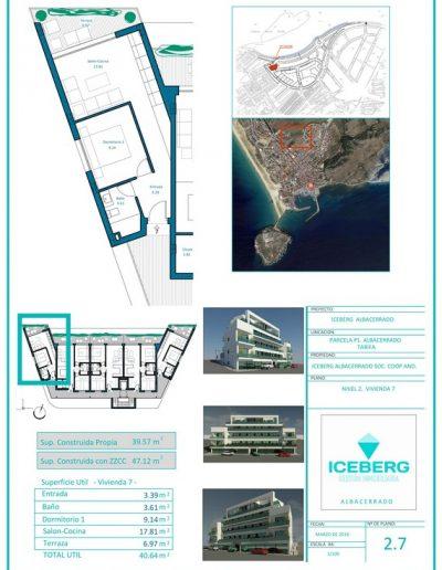 Plano viviendas Iceberg Albacerrado Tarifa 07