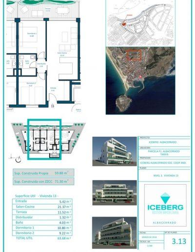 Plano viviendas Iceberg Albacerrado Tarifa 13