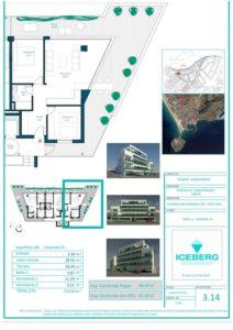 Plano viviendas Iceberg Albacerrado Tarifa 14