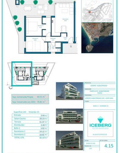 Plano viviendas Iceberg Albacerrado Tarifa 15
