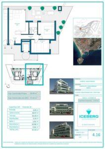 Plano viviendas Iceberg Albacerrado Tarifa 16
