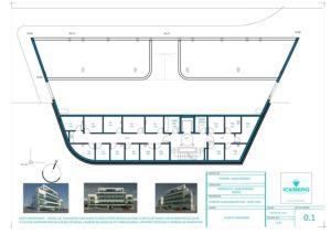 Planos de planta 1 Edficio Iceberg Albacerrado Tarifa
