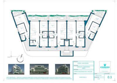 Planos de planta 2 Edficio Iceberg Albacerrado Tarifa