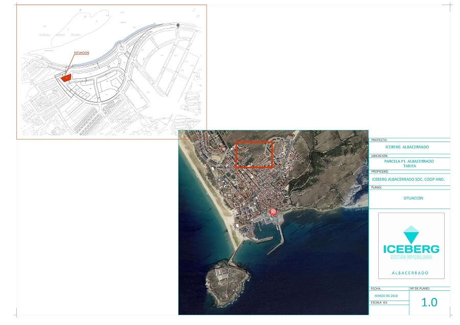 plano situación edificio Cooperativa de viviendas Iceberg Albacerrado en Tarifa